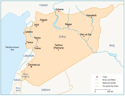 Syria energy state borders