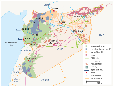 Syria energy oil and gas infrastructure