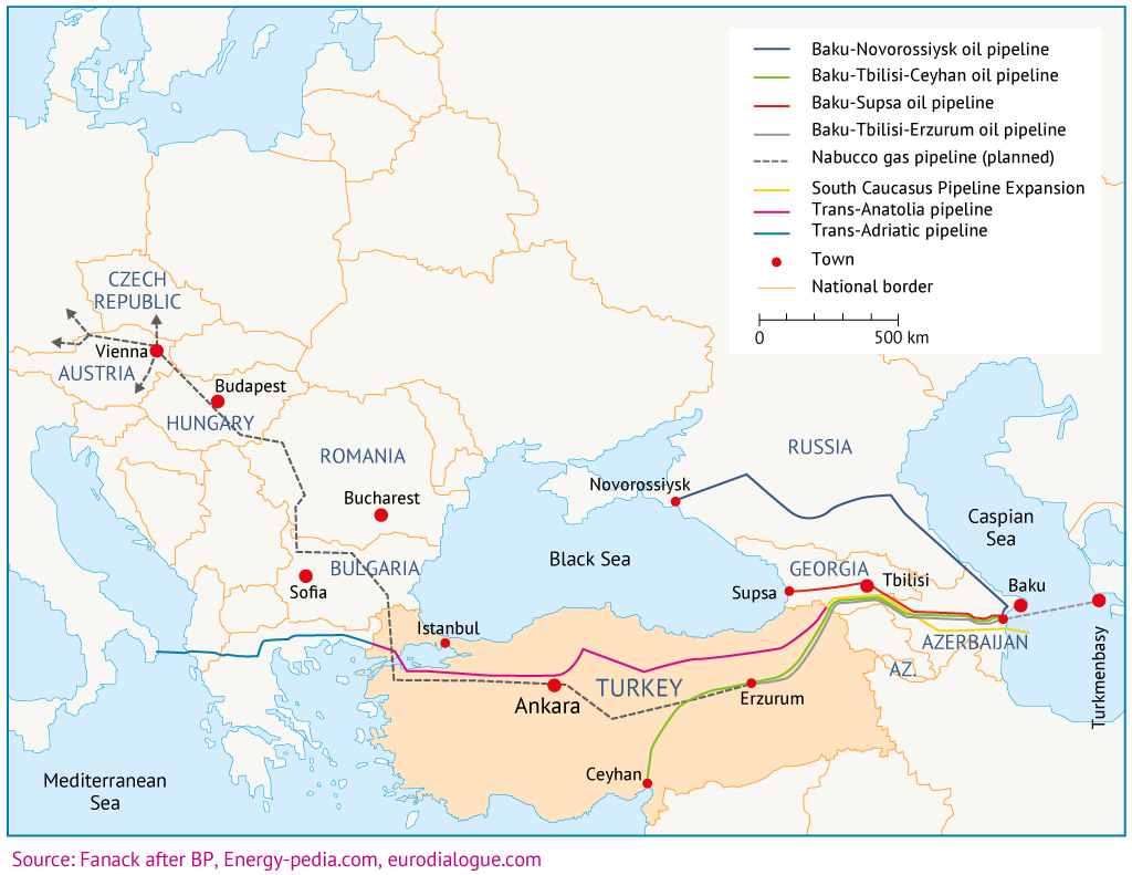 Oil and gas transit potential the Southern Corridor Fanackcom