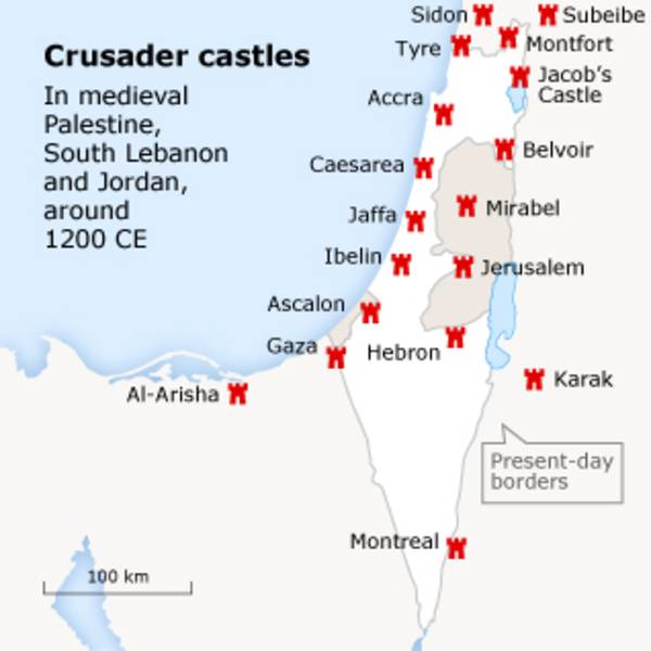 Israel crusaders map
