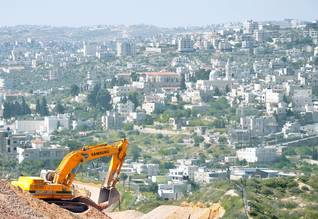Construction work in East Jerusalem in 2010
