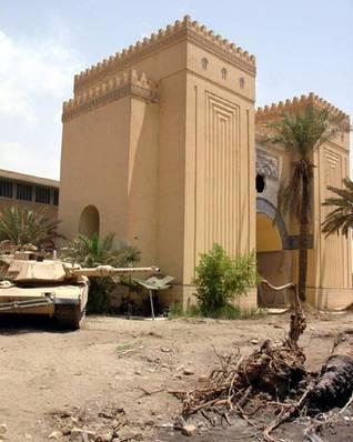 صدام حسين و قوات التحالف في بغداد