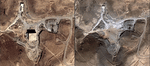 Satellite images of the Syrian reactor before and after the Israeli attack