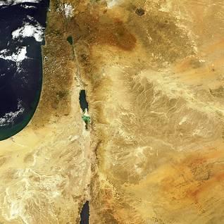 Photo Eosnap.com / صورة فضائية لمنخفض وادي رفت