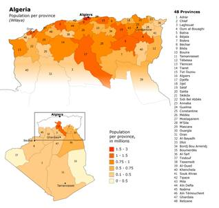 Population Algeria - Fanack Chronicle