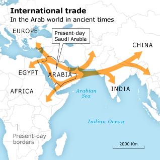 العصور القديمة خط التجارة العالم العربي