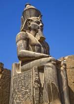 تمثال رمسيس الثاني في الأقصر اضغط للتكبير