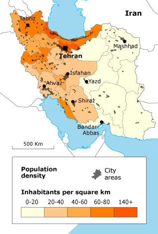 Population of Iran