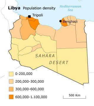ليبيا سكان