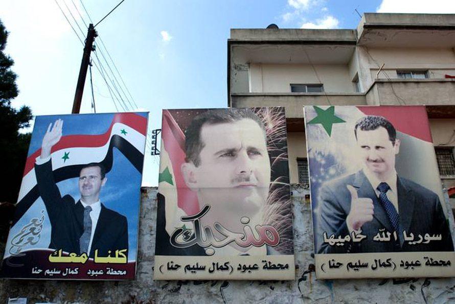 Bashar al-Assad posters