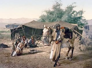 Population Qatar - Bedouins Painting circa 1880
