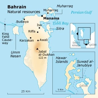 Geography Bahrain - Bahrain natural resources