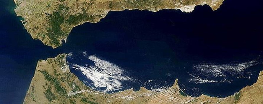 Satellite view of the Strait of Gibraltar
