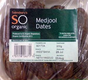 Israeli dates from the settlement of Netiv Hagdud