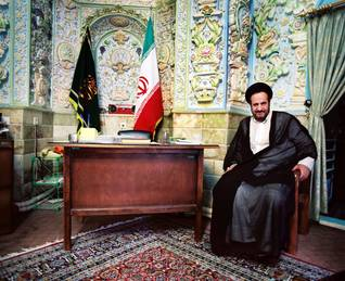 Governance Iran - A Shia offical in his office in Qom
