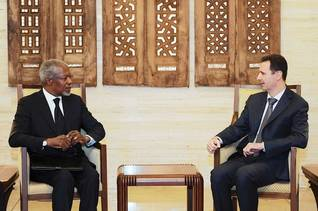 Joint UN-Arab League envoy Kofi Annan and Syrian President al-Assad met on 10 March 2012 in Damascus