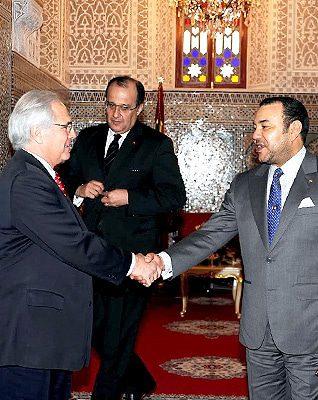 مبعوث الأمم المتحدة كريستوفر روس مع الملك محمد السادس في ديسمبر 2009