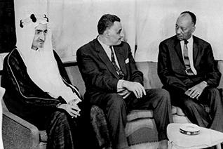 Arab leaders during the Khartoum Summit in 1967