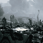 Bombed US Army Headquarters in Beirut