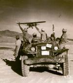 Jeep with Jewish soldiers