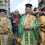 Greek-Orthodox priests in Beirut