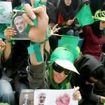 Mousavi's supporter, green movement photo