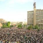 Protesters in Valiasr Square