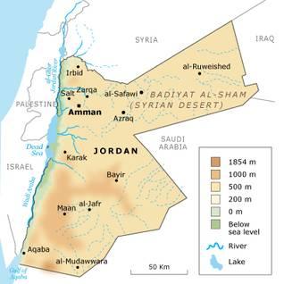 Geography Jordan - Topography