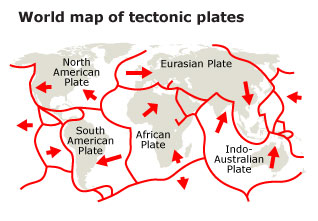 geography iran - tectonic map