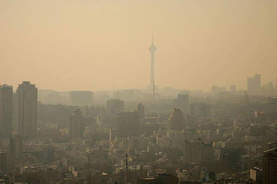 geography iran - Smog above Tehran