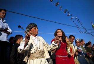 احتفالاات عيد النيروز في عقره في كردستان العراق Photo HH/Polaris