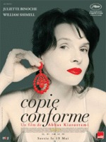 Certified Copy (Abbas Kariostami, 2010) Story of a changing relationship between a British writer and a French antiques dealer (winner Best Actress Award, Cannes Film Festival, 2010, France)
