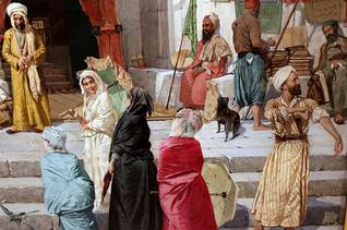 Painting by Osman Hamdi Bey