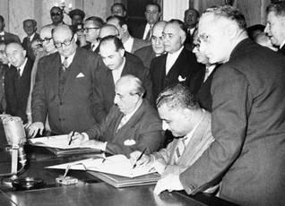 Syria independence  Shukri Quwatli  Gamal Abdul Nasser
