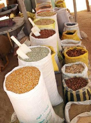 Food market in Libya