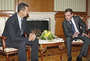 الشؤون الخارجية بشار الأسد و  ديمتري ميدفيديف