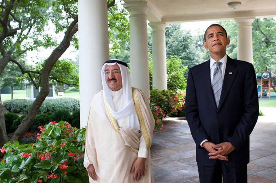الحكم الكويت باراك أوباما والشيخ صباح