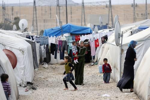 مخيم نيزب في منطقة غازي عنتاب, بالقرب من الحدود التركية-السورية, آذار/مارس 2014 Photo Corbis