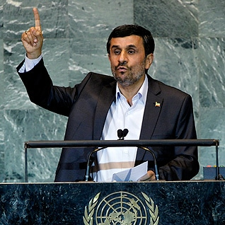 Governance Iran - President Mahmoud Ahmadinejad addressing the UN in New York, in 2011