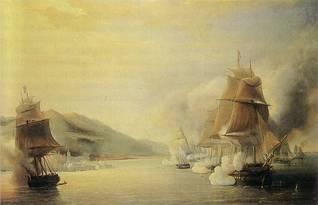 الهجوم على مدينة الجزائر للرسام موريل فاتيو عام 1830 (قصر فرساي)