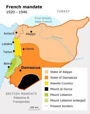 الانتداب الفرنسي سوريا