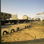 Trucks at the Gaza-Israeli border crossing / Photo Fanack
