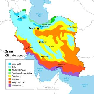 Geography Iran - Climate Zones