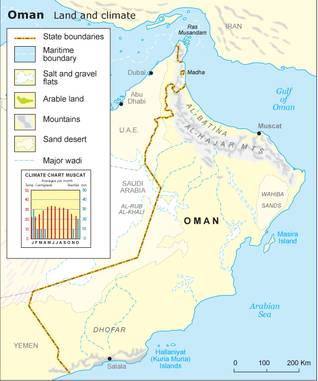 Geography Oman - Climate and topography