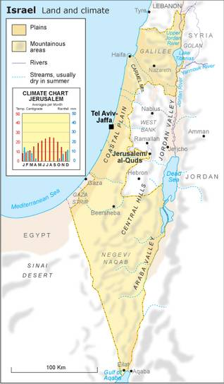 Israel Geography - Fanack Chronicle