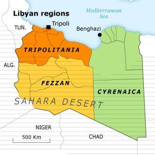الجبال في ليبيا