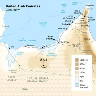 الإمارات العربية المتحدة الجغرافيا
