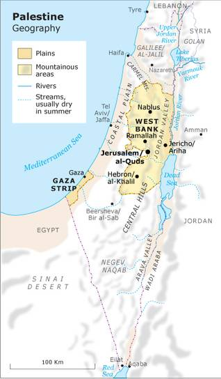 palestine geograpgy