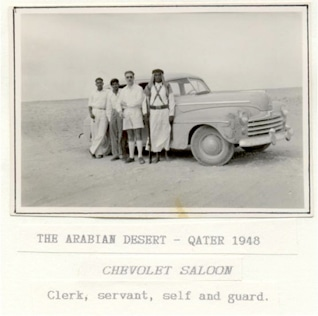 British oil explorers in the Qatari desert, 1948