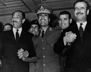Hafiz al-Assad meets al-Sadat and Gaddafi